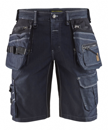Blaklader 1992 Craftsman Work Shorts CORDURA® Denim Stretch X1900 (Navy / Black)